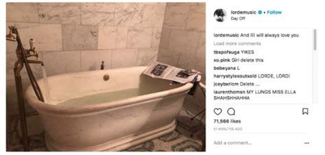whitney bathtub lorde apologizes for whitney houston quoting bathtub