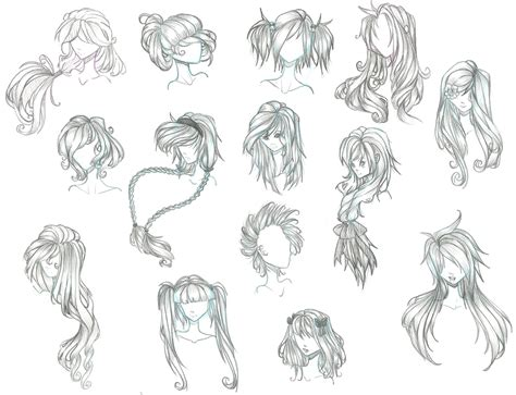 anime hairstyles ideas anime hair by aii cute deviantart com on deviantart