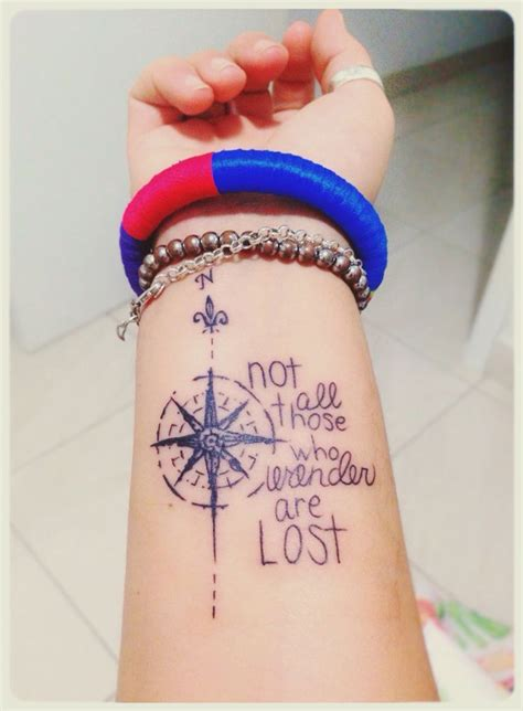 not all who wander are lost tattoo not all those who wander are lost compass for front of