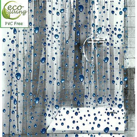 clear shower curtain with design bubbles clear childrens peva shower curtain with blue