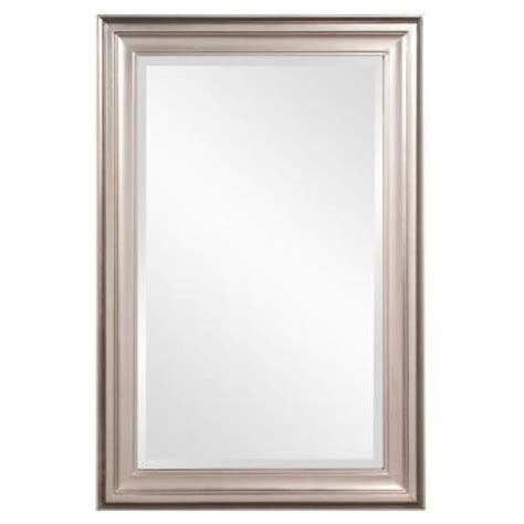 36 in x 24 in x 1 in brushed nickel rectangular vanity