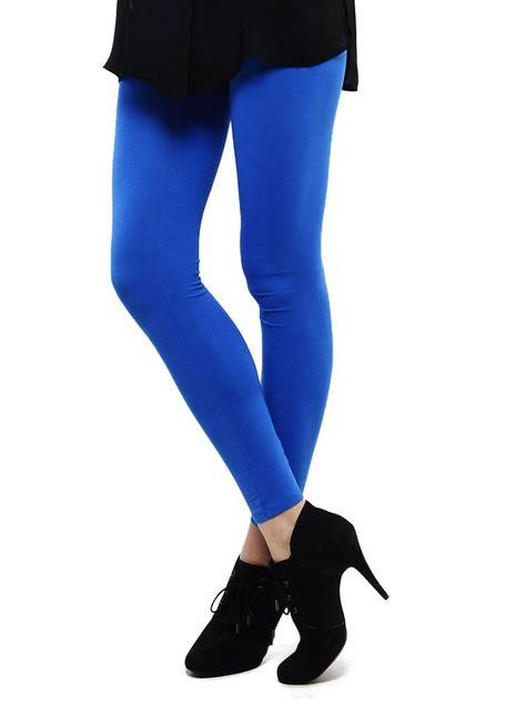 color jeggings femmora royal blue ankle length 6003 39
