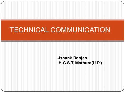 technical communication technical communication