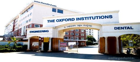Oxford College Bangalore Mba Review the oxford college of engineering bangalore reviews