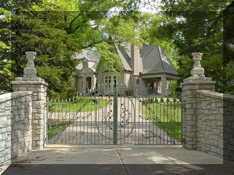 Front Entry Way by What Are Wrought Iron Gates Luyi Forge