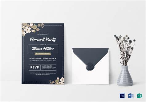 invitation card template publisher farewell invitation card design template in word