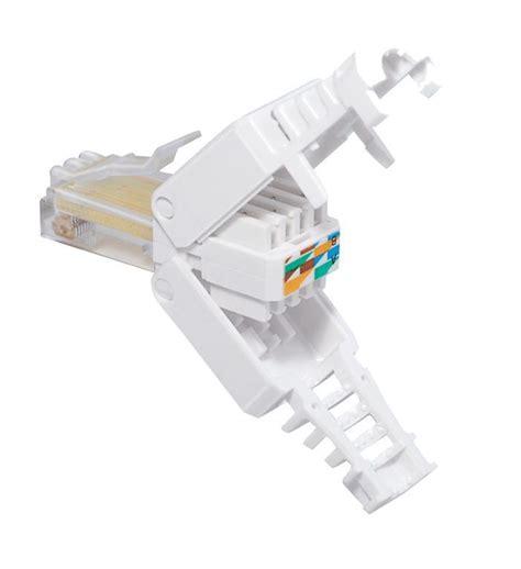 Kabel Usb Ab Kabel Utp Rj45 Cat 5 netzwerkstecker rj 45 f 252 r werkzeuglose montage 0772 09841 cat 5