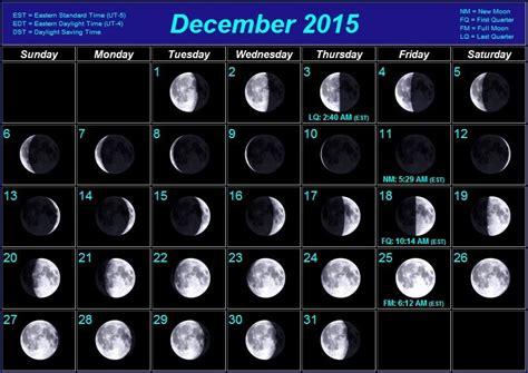 2015 Moon Calendar December 2015 Calendar With Moon Calendar Template 2016
