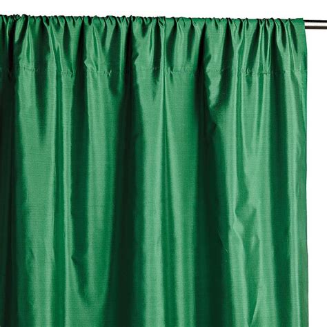 faux silk green curtains emerald green faux silk taffeta curtain panel