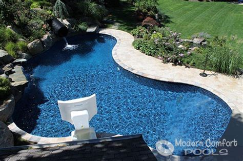 modern comfort pools modern comfort pools gunite concrete and steel wall