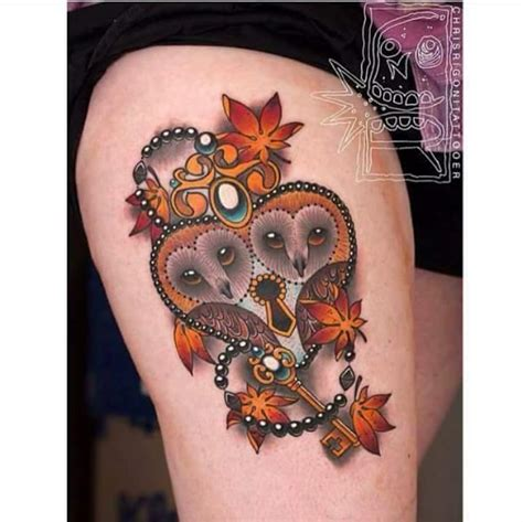 owl tattoo with lock and key meaning 40 edgy owl tattoo design ideas for an enigmatic style
