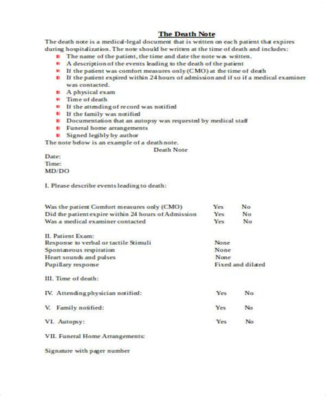medical note sle 10 exles in word pdf