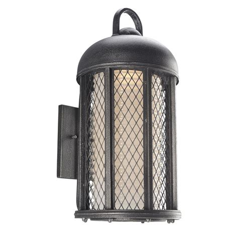 troy lighting signal hill aged silver outdoor wall mount