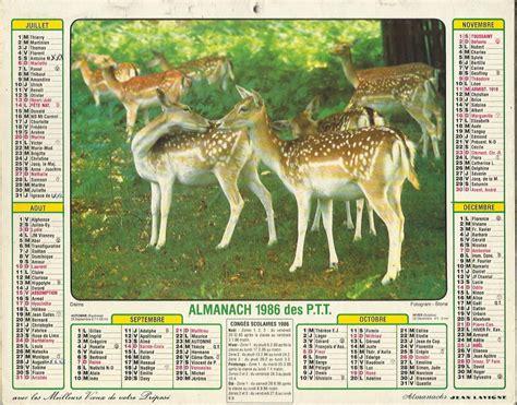 Calendrier De 1986 233 Es 1980 224 1989 Calendriers Almanachs Le Grenier De Mimi