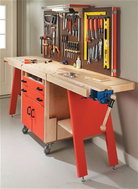 all in one woodworking folding workshop woodsmith plans