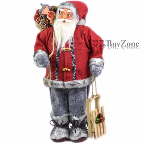 18 quot large standing father christmas santa claus figure