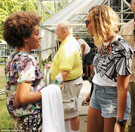 Beyonces Sibiling Rivalry by Beyonce Supports Solange Knowles At