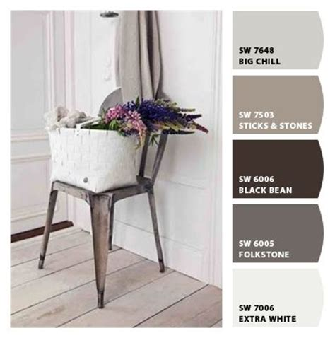 rustic industrial inspired color image via sea cottage sherwin williams color palettes