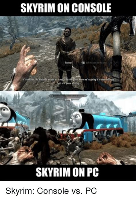 skyrim console skyrim on console skyrim on pc skyrim console vs pc