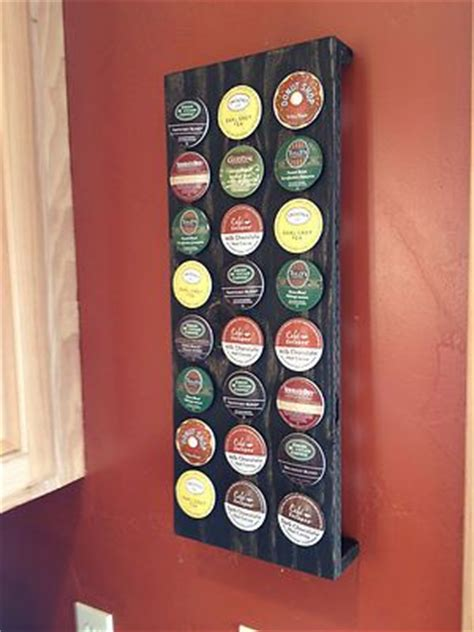 K Cup Wall Rack by Details About Rustic Keurig 24 Cup K Cup Holder The O
