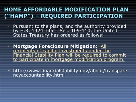 home affordability and stability plan loan modification and bankruptcy basics powerpoint