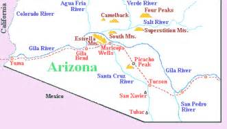 map of rivers in arizona estrella indroduction page