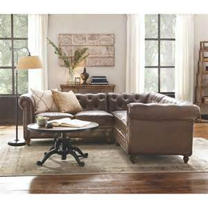 Home Decorators Gordon Sofa Home Decorators Collection Gordon 3 Brown Bonded Leather Sectional 8061000760 The Home Depot