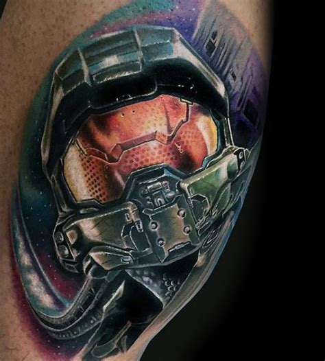 halo tattoo designs 100 tattoos for gamer ink designs