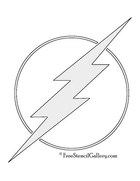 flash logo templates the flash symbol stencil free stencil gallery