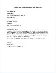 cover letter for change of name letter format 187 company name change letter format cover