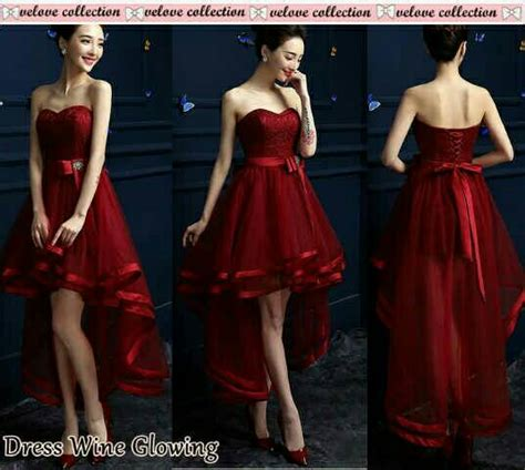 Dress Import Murah 1833 Maroon baju dress maxi glowing merah cantik terbaru murah