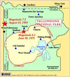 map of america yellowstone national park yellowstone caldera yellowstone geology