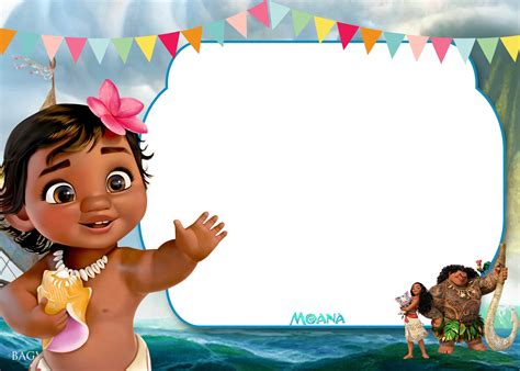 Moana Card Template by Free Moana Birthday Invitation Template Free Invitation