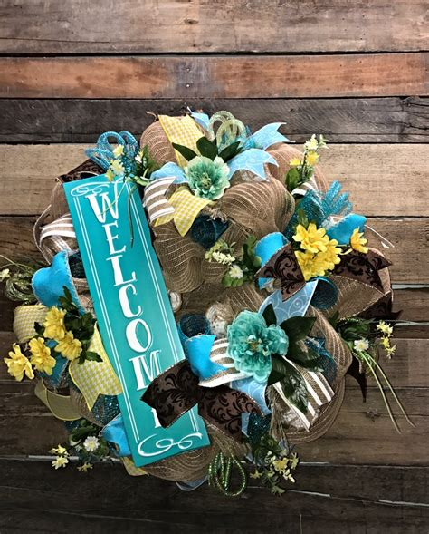 summer wreath summer decor summer door everyday wreath bee spring wreath summer wreath welcome wreath everyday