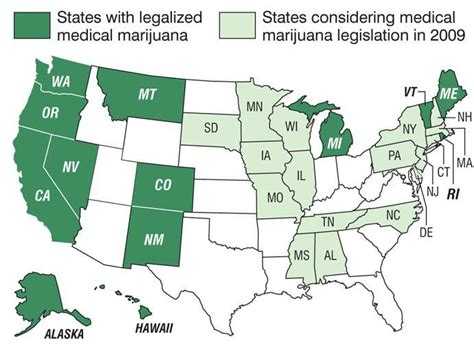 States With Legal Weed Map by Can I Possess Medical Marijuana In All 50 States