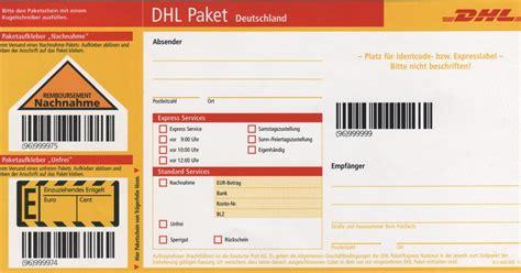 Paketaufkleber Drucken Vorlage by Mechanismus In Autos Dhl Paketschein Ausdrucken
