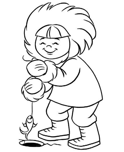 Eskimo Coloring Page Az Pages sketch template