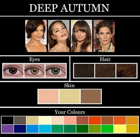 deep autumn color palette ooh tr 232 s chic the skin tone seasons autumn deep dark