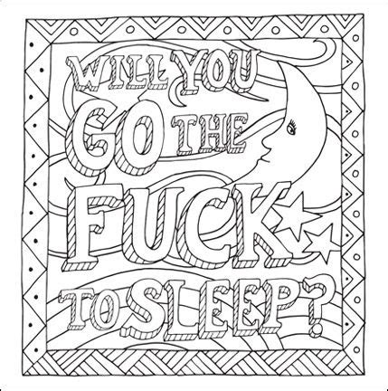 printable coloring pages swear words cuss word adult coloring pages coloring pages