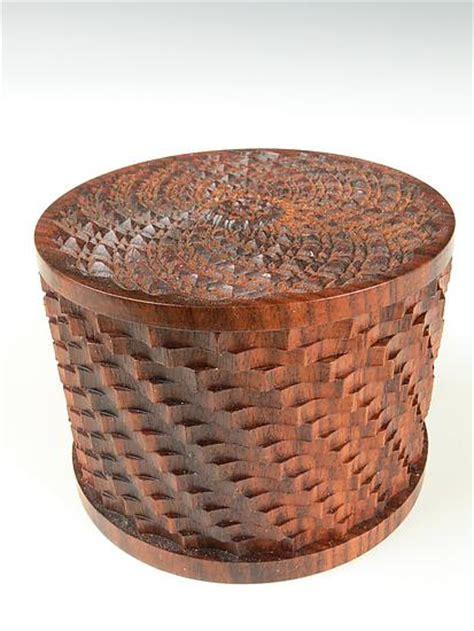 ornamental turning sampler box  dewey garrett wood box