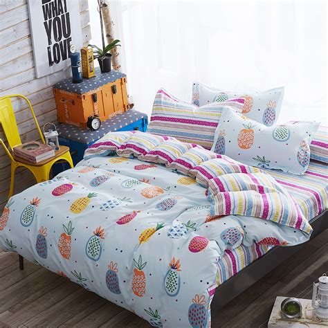 pineapple bed set cute pineapple bedding set kawaii duvet cover for kids bed