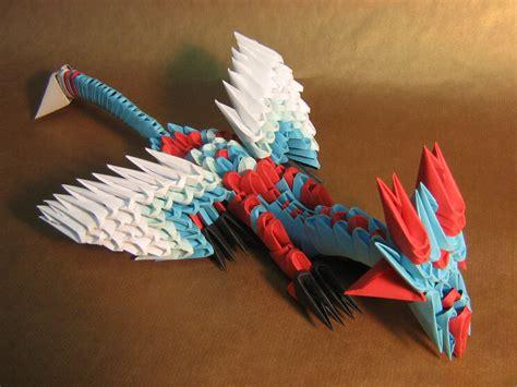 making origami 3d blue dragon 3d origami by aarrnnoo0123 on deviantart