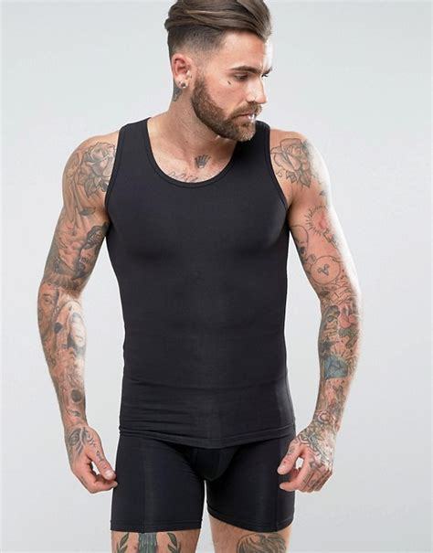Asos Fit Vest In Black asos asos shapewear vest in black