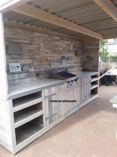 outdoor kitchen ideas d s furniture upcycled pallets made outdoor kitchen pallet ideas