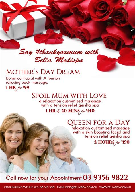 s day specials 1000 ideas about spa specials on spa