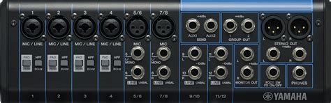 Mixer Audio Yamaha Mg12xu yamaha mg12xu image 909133 audiofanzine