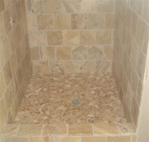 kbrs shower base pan with pebble tile tile for shower