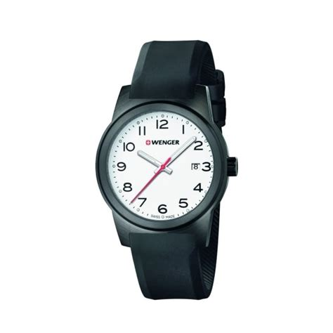 Swiss Army Sa0135 Black List White wenger field s swiss army black silicone white