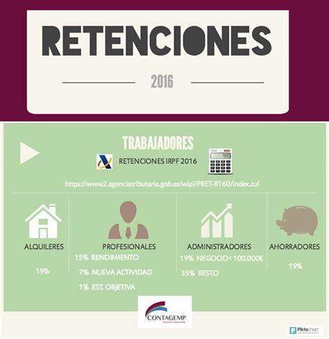 retenciones irpf 2015 y 2016 agencia tributaria retenciones 2016 irpf