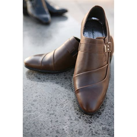 mens wrinkle buckle band velcro dress shoes fashion is not